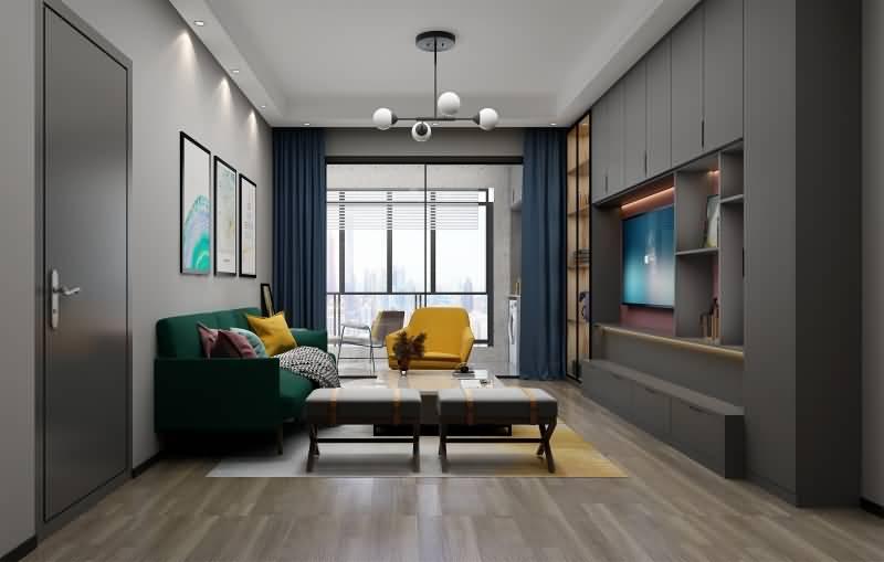 欧蒂尼全屋定制 莫兰迪风格 客厅